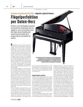 Yamaha AvantGrand N3/N2 - digitale Hybrid-Pianos