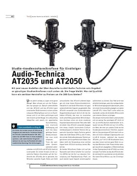 Audio-Technica AT2035 und AT2050