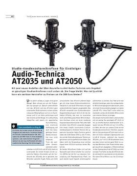 Audio-Technica AT2035 und AT2050