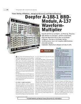 Doepfer A-188-1 BBDModule, A-137 Waveform Multiplier