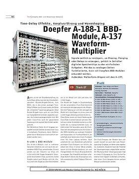 Doepfer A-188-1 BBDModule, A-137 Waveform Multiplier