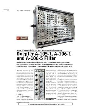 Doepfer A-105-1, A-106-1 und A-106-05 Filter