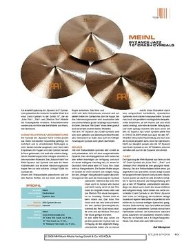 """Meinl Byzance Jazz 16"""" Crash Cymbals"""
