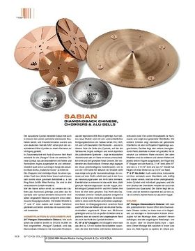Sabian Diamondback Chinese, Choppers & Alu Bells