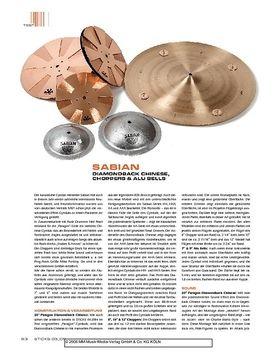 Sabian Diamondback Chinese, Choppers & Alu Bells