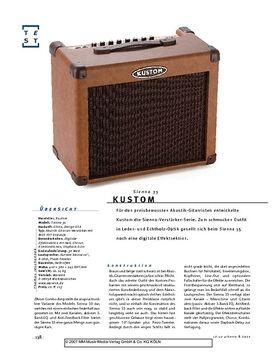 Kustom Sienna 35, Akustik-Combo