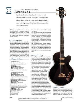 Epiphone Allen Woody Rumblecat, Semiakustik-E-Bass