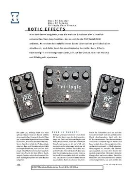 Xotic Effects Bass RC Booster, Bass RC Preamp, Tri-Logic Bass Preamp, Bass-Effekte