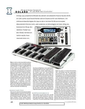 Roland VG-99 V-Guitar System & FC-300 MIDI Foot Controller