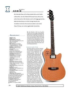 Godin A6 Ultra, Thinline-Hollowbody-E/A-Gitarre