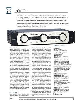 SPL Transducer, Speaker- und Mikrofonierungs-Simulator