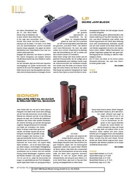 Sonor Square Metal Shaker & Round Metal Shaker