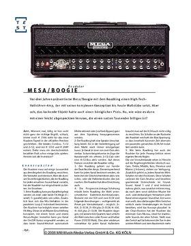 Mesa/Boogie Roadster, Gitarren-Topteil