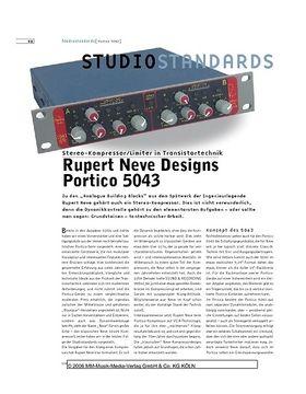 Studiostandards - Rupert Neve Designs Portico 5043