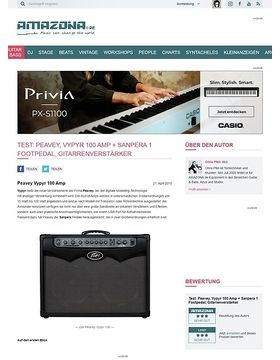 Test: Peavey, Vypyr 100 Amp + Sanpera 1 Footpedal, Gitarrenverstärker