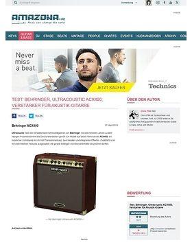 Test: Behringer, Ultracoustic ACX450, Verstärker für Akustik-Gitarre