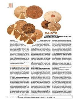 Paiste Traditionals, Signature & New Signature Cymbals