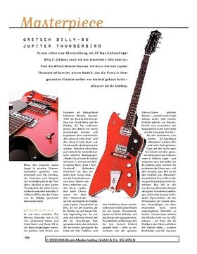 Masterpiece: Gretsch Gretsch G6199 Billy-Bo Jupiter Thunderbird