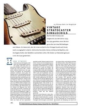 Vergleichstest: Vintage Stratocaster Singlecoils