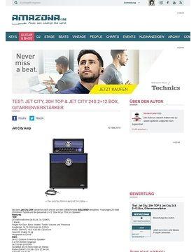 Test: Jet City, 20H TOP & Jet City 24S 2x12 Box, Gitarrenverstärker