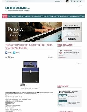 Test: Jet City, 20H TOP & Jet City 24S 2x12 Box, Gitarrenverstärker