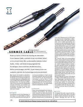 Sommer Cable, Klinkenkabel für Instrumente