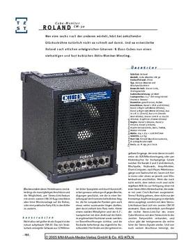 Roland Cube Monitor, Aktiv-Monitor mit Mixer