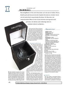 Randall Isolation 12C, Recording-Box