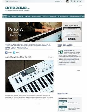 Test: Waldorf Blofeld - Keyboard, Sample-RAM & User-Wavetable