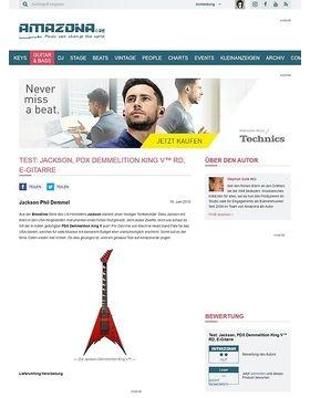Test: Jackson, PDX Demmelition King V™ RD, E-Gitarre