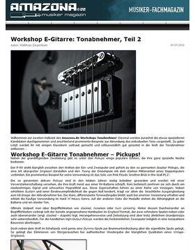Workshop: Guitar know-how - Tonabnehmer, Teil 2