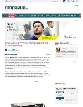 Test: Ampeg, SVT7Pro & Ampeg Pro Neo 410, Bassverstärker