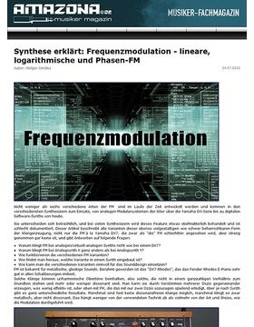 Workshop: Echte, wahre und richtige Frequenzmodulation - lineare, logarithmische und Phasen-FM