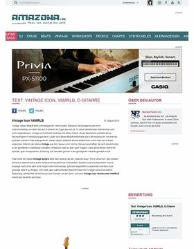 Test: Vintage Icon, V6MRLB, E-Gitarre