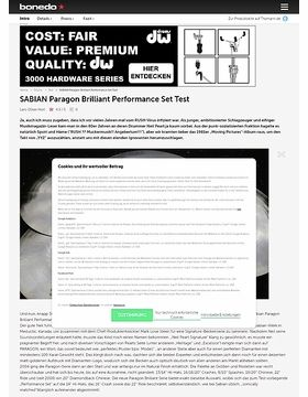 SABIAN Paragon Brilliant Performance Set