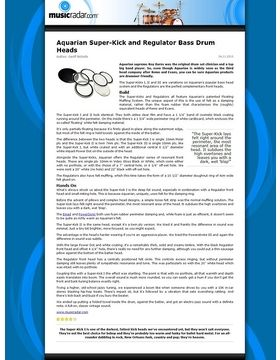 Aquarian Super-Kick and Regulator Bass Drum Heads