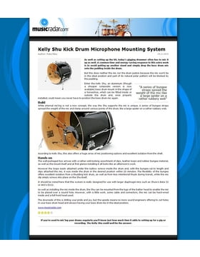 Kelly Shu Kick Drum Microphone Mounting System
