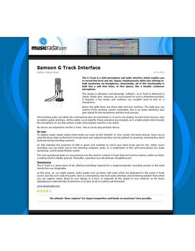 Samson G Track Interface