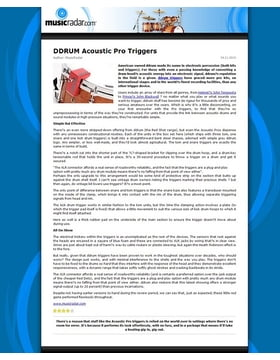 DDRUM Acoustic Pro Triggers