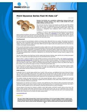Meinl Byzance Series Fast Hi-Hats 13