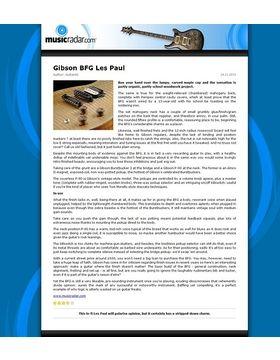 Gibson BFG Les Paul