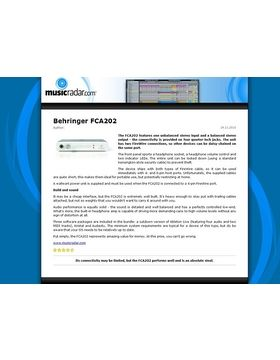 Behringer FCA202 F-Control Audio – Thomann UK