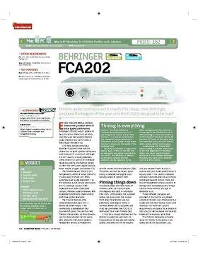 BEHRINGER FCA202