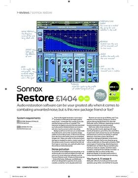 Sonnox restore