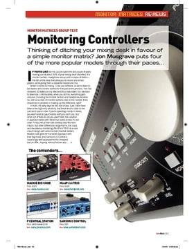 Monitoring Controllers  Presonus Central Station
