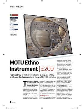 MOTU Ethno Instrument