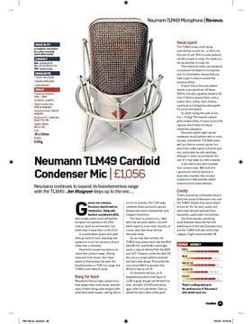 Neumann TLM49 Cardioid Condenser Mic