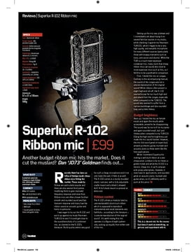 Superlux R102 Ribbon mic