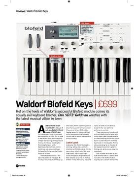 Waldorf Blofeld Keys