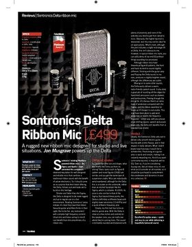 Sontronics Delta Ribbon Mic